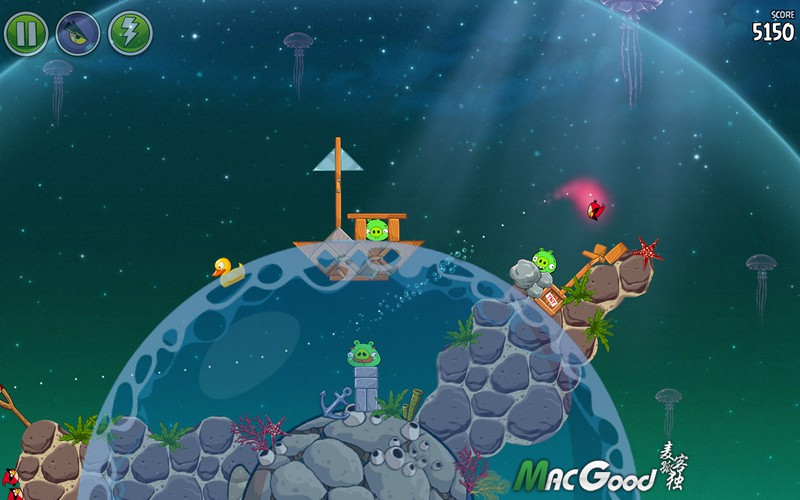 愤怒的小鸟太空版 1.4.0 mac Angry Birds Space for mac 最新破解版