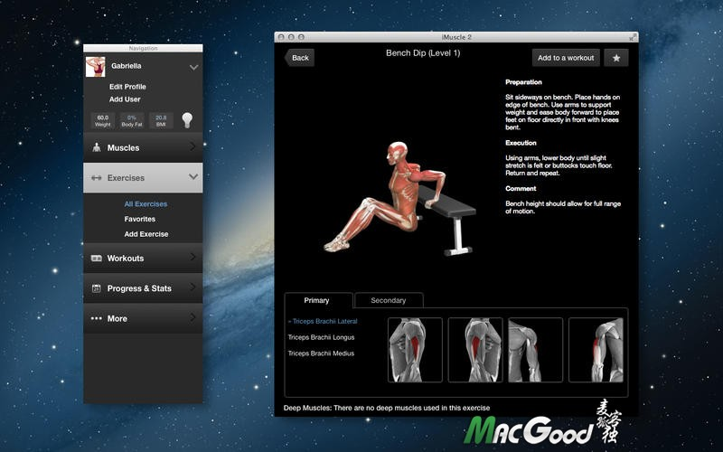 iMuscle 2 for Mac v3.9.1